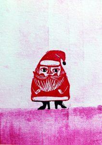 Weihnachtsmann Karte