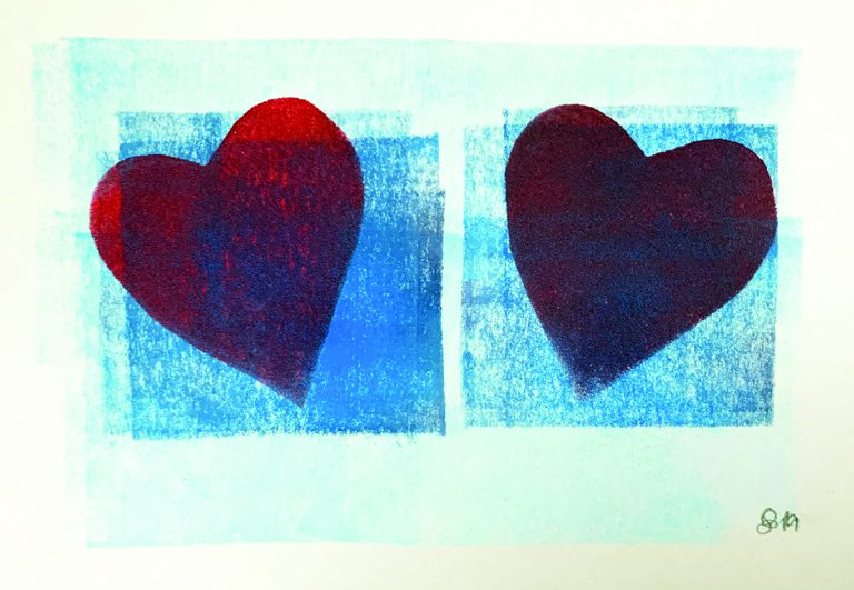 Zwei Herzen Karte